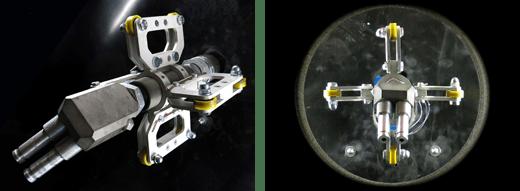Hochleistungs-Strahlkopf zum Innenstrahlen von Rohren